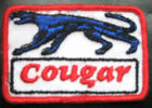 "COUGAR EMBROIDERED SEW ON ONLY PATCH MERCURY LINCOLN AUTOMOBILE CAT 3"" x 2"""