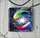 ASIAN ART COLORFUL FISH PENDANTS NECKLACE OR EARRINGS -f3bx