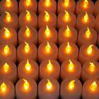 48 96 144 Flameless Flicker LED Tea Light Candles Amber Light for Wedding Party