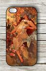 ART NOUVEAU MODERN FASHION WOMAN #10 CASE FOR iPHONE 4 ,  5 ,  5c ,  6 -gvf5Z