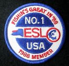 ESLO FISHING EMBROIDERED SEW ON PATCH CLUB USA BAIT TACKLE MEMBER UNIFORM