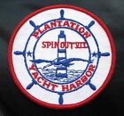 PLANTATION YACHT HARBOR EMBROIDERED SEW ON PATCH SPIN OUT ISLAMORADA FISHING
