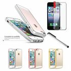 BasAcc TPU Bumper Clear Hard Back Case For iPhone 5 5S SE + Film + Silver Pen