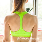 spt5 CFLB T-Back Seamless Push Up Padded Crop Gym Sports Bra 12B Workout Fitness