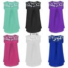 Fashion Women's Summer Lace Vest Top Sleeveless Blouse Casual Tank T-Shirts TXCL