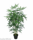 Best Artificial 4ft Potted Bamboo Plant Tree Tropical Office Conservatory New