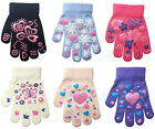 Children's Kids Magic Gloves Heart & Butterfly Boys Girls Winter Warm One Size
