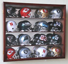 16 Riddell Mini Helmet Helmets Display Case Cabinet Wall Rack