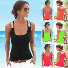 Fashion Women Summer Vest Sleeveless Blouse Casual Tank Tops T-Shirt Blouse LAU