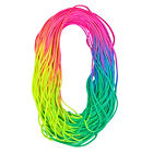 Colorful Neon Rainbow Cord Tie Dye Style Type III 7 Strand 550 Paracord