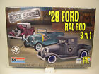 MONOGRAM 1:25 SCALE 1929 FORD MODEL RAT ROD 3-n-1 PLASTIC MODEL CAR KIT