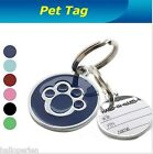 Dog Cat Pets Metal Paw Pet Tag With Personalised Back-Engraving Toys