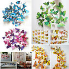 3D DIY Butterfly Wall Sticker Butterfly Art Home Decor Room Stickers 12Pcs/Set