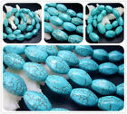 "10X16,12X20MM Blue Howlite Turquoise Six Faces Gemstone Loose Beads 16"" T0157"