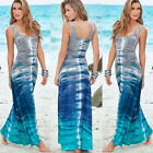 Women Ladies Casual Sexy Summer Sleeveless Sundress Long Boho Maxi Beach Dress