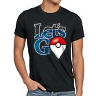 Let's Go Pokéball Herren T-Shirt monster spiel online pokemon japan arena plus