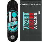 "PLAN B Skateboard Deck PUDWILL TRIUMPH Black Ice 8.0"" with GRIZZLY GRIPTAPE"