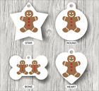 GINGERBREAD MAN FUNNY PETS TAGS -mlp7Z