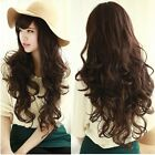 Ladies Fashion wavy Curly Long Full Wigs Hair Costume Cosplay Party 3 colors