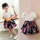 Summer Girl Princess Lace Dress Flower Baby Party Wedding Tulle Tutu Dresses