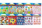 Kids Sticker Sheets Party Bag Loot Filler Weddings Activity Stocking Filler Gift