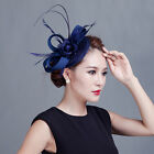 Charms Bridal Mesh Flower Feather Pillbox Hair Clip Hat Fascinator Wedding Party