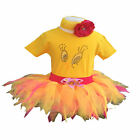Tweetie Bird Tutu Feather Skirt Rhinestone Top Vest Baby Toddle Pie Cake Smash