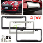 2PCS CAR LICENSE PLATE FRAME CARBON FIBER DIAMOND BLING TAG COVER ORIGINAL 3K TW