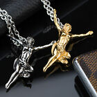 AgentX Strength Spirit Figure Pendant Stainless Men's Jewllery Necklace Chain