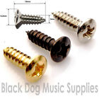Guitar scratch plate screws chrome black or gold 3x12mm Packs of 10,50 or 100