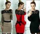 Womens Ladies Fashion Formal Party Pencil Business Dress Hollow Cocktail Dress