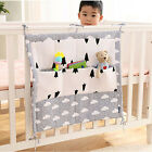 9Pockets Baby Bed Crib Nursery Organizer Cot Storage Bag Bumper Diaper Stacker