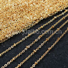 "18"" Finish Beaded Satellite Chain Necklace Gold Plated Copper Brass DIY Findings"