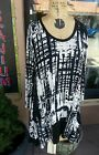 NWT ART OF CLOTH ASTER TUNIC-BLACK AND WHITE-POCKETS