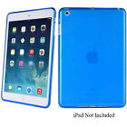 iPad Mini Slim Lightweight High Gloss Silicone Protective Cover Case - Teal Blue