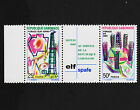 1969 Gabon ELFS-PAFE Strip & Label Margin Sc#251a Mint Never Hinged VF 15552
