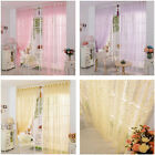 Creative Room Fashion Print Flower Voile Door Curtain Window Room Curtain