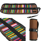 Canvas Roll Up Pencils Wrap Colored Pencils Holder For Pens Pencils Set(48place)