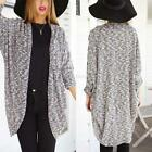 Womens Long Sleeve Knitted Cardigan Beaded Loose Sweater Outwear Jacket Coat Top