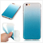 Colorful Bling Glitter TPU Clear Back Cover Phone Case For Samsung Galaxy Phones