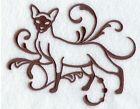 Siamese Cat Towels~ choose colors ~personalize~ embroidered Hand & bath towels