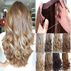 UK Real Thick Long New 3/4 Full Head Wire On Hair Extensions With Human Hair T1r