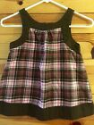 *GYMBOREE* Girls SWEETER THAN CHOCOLATE Brown & Pink Plaid Flannel Top Size 7