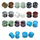 Natural Gemstone Ear Saddle Flared Plugs Tunnel Stretcher 18pc Piercing Expander