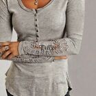 Women long Sleeve lace BLOUSE Slim T Shirt Sweater Tops pullover Top Blouse new