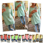 2016 Women Blouse Loose Pullover Large Size T Shirt 3/4 Sleeve Cotton Shirt Tops