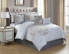 Kinglinen 11 Piece North Gray/Taupe Bed in a Bag w/600TC ...