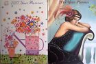 Daisy Patch or Art Deco 2017 Padded Year Planner & Address Book Monthly Design