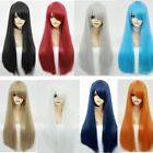 Halloween Unisex 70cm Long Wig Multi-Colors Straight Hair Cosplay Harajuku Wig