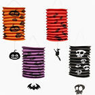 New Halloween Paper Lantern Hanging Decal Pumpkin Bat Witch Pattern Party Decor.
